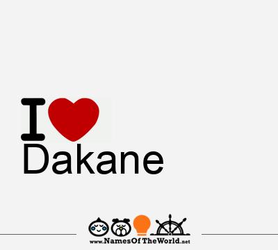 Dakane