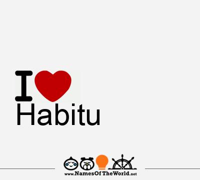 Habitu