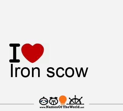 Iron scow