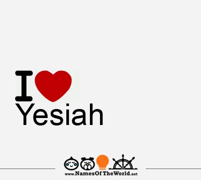 Yesiah