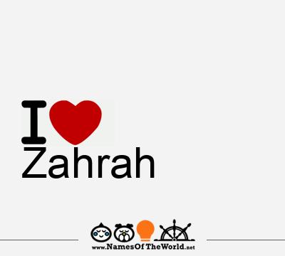 Zahrah
