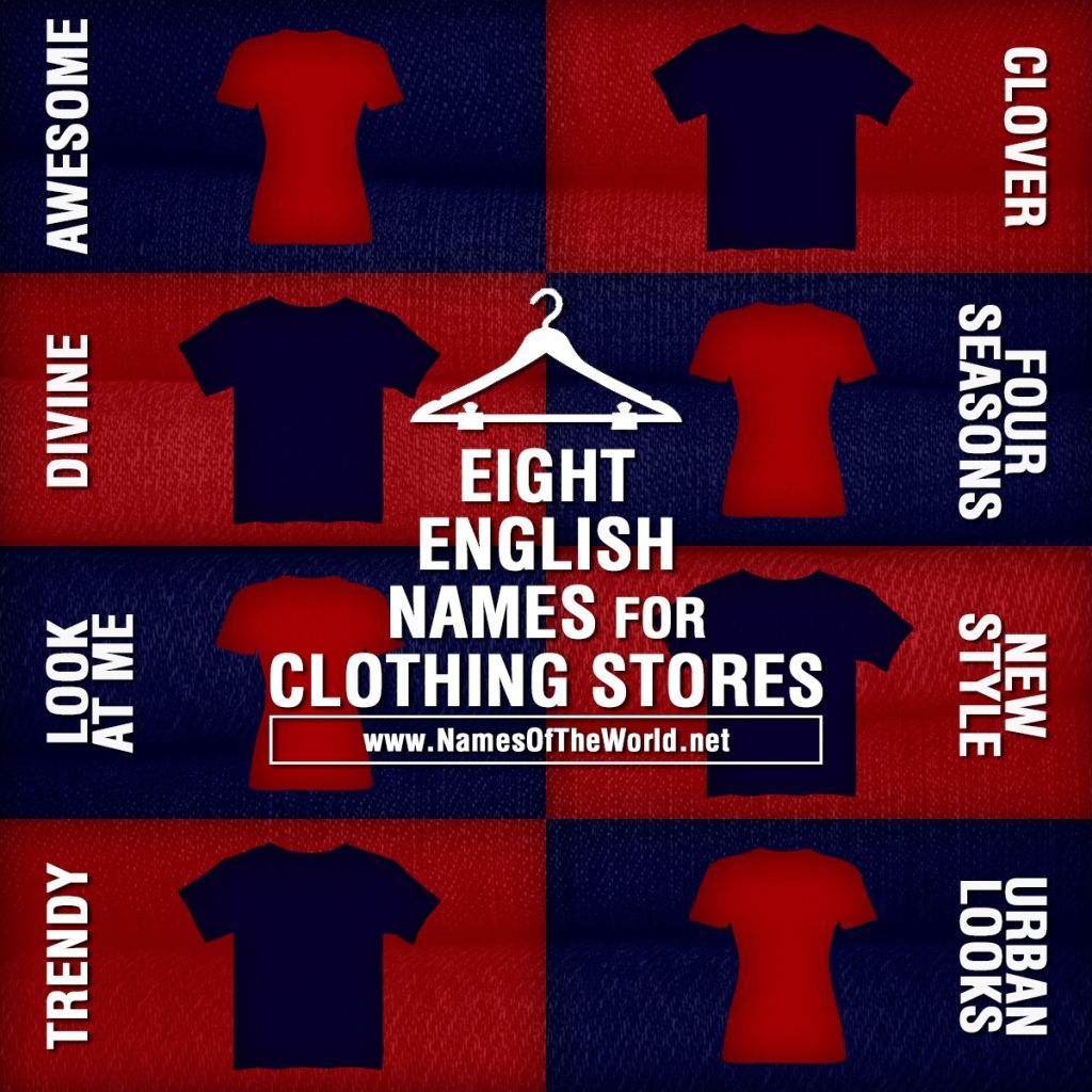 Names for clothing stores in spanish